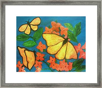 Butterflies Framed Print by Christy Saunders Church