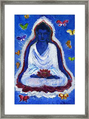 Butterflies Dream Of Buddha Framed Print