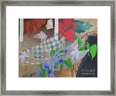 Butterflies In The Breeze Framed Print by Richard Dotson