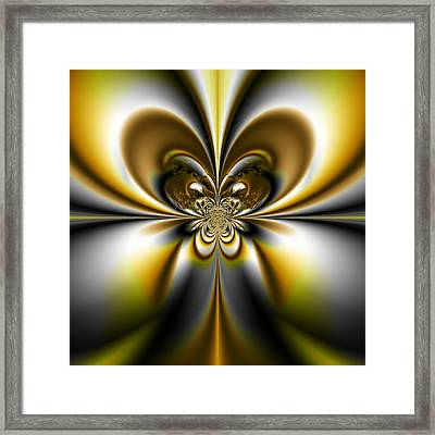 Butterfly - A Fractal Design Framed Print by Gina Lee Manley
