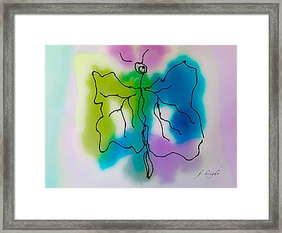 Butterfly Abstract 1 Framed Print by Frank Bright