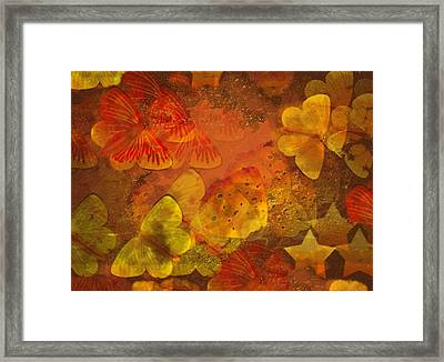 Butterfly Abstract 2 Framed Print by David Dehner