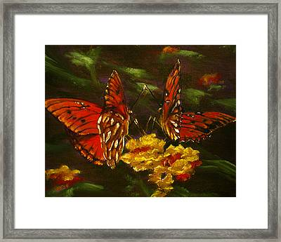 Butterfly Amore Framed Print by Sherry Robinson
