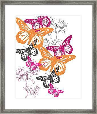 Butterfly Framed Print by Anna Platts