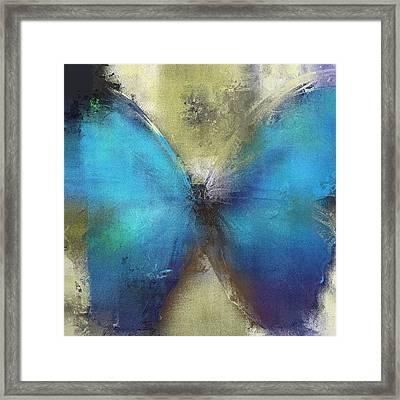 Butterfly Art - Ab0101a Framed Print by Variance Collections