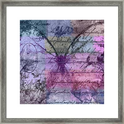 Butterfly Art - Ab25a Framed Print by Variance Collections