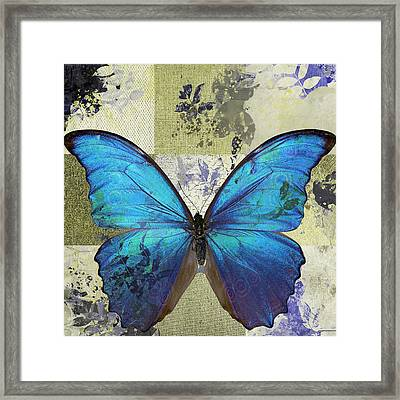 Butterfly Art - S02b Framed Print by Variance Collections