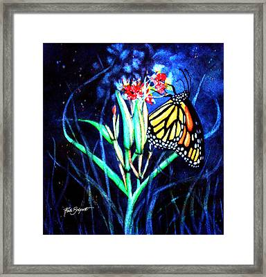 Butterfly At Work Framed Print by Ruth Bodycott