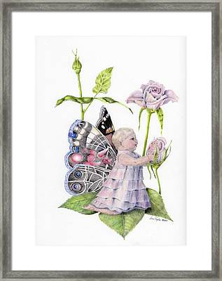 Butterfly Baby Framed Print by Laurianna Taylor