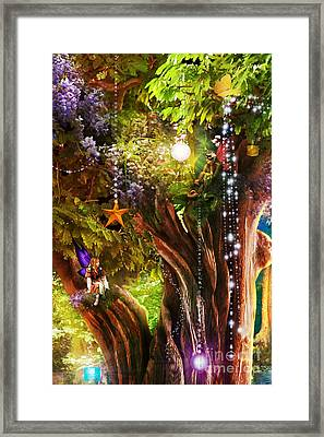 Butterfly Ball Tree Framed Print by Aimee Stewart