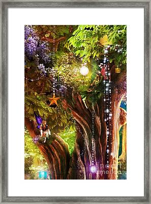 Butterfly Ball Tree Framed Print