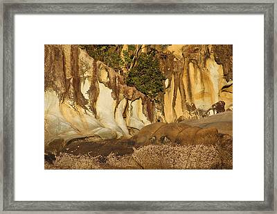 Butterfly Bay Rock Formations Framed Print