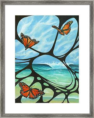 Butterfly Beach Framed Print