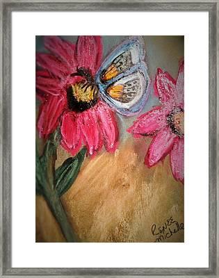 Butterfly Breakfast Framed Print by Renee Michelle Wenker