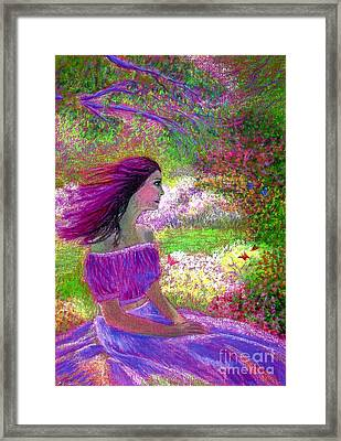 Butterfly Breezes Framed Print by Jane Small
