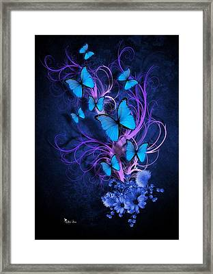 Butterfly Burst Framed Print