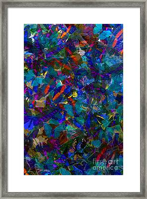 Framed Print featuring the photograph Butterfly Collage Blue by Robert Meanor