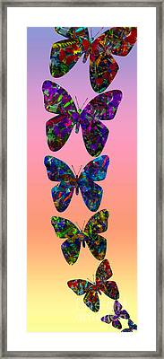 Framed Print featuring the photograph Butterfly Collage IIII by Robert Meanor