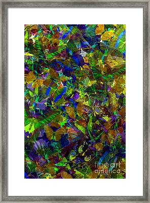 Framed Print featuring the photograph Butterfly Collage Yellow by Robert Meanor