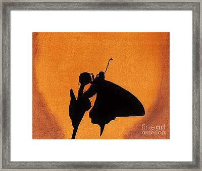 Framed Print featuring the drawing Butterfly by D Hackett
