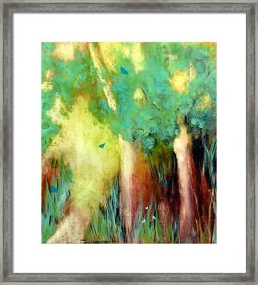 Framed Print featuring the painting Butterfly Days by Katie Black
