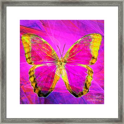 Butterfly Dsc2969p120 Square Framed Print by Wingsdomain Art and Photography