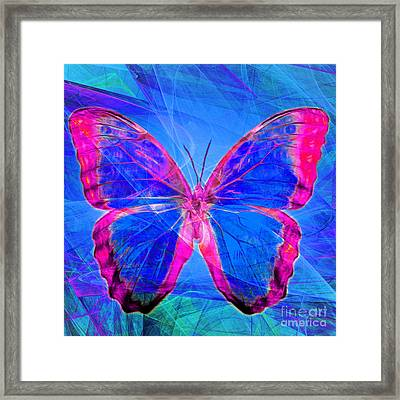 Butterfly Dsc2969p32 Square Framed Print by Wingsdomain Art and Photography