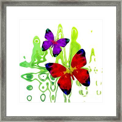 Butterfly Duet - Harmony Framed Print