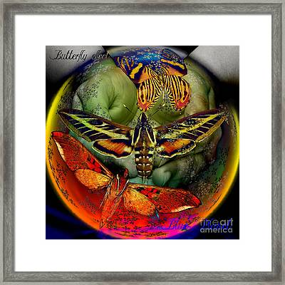 Butterfly Effect Blue Planet Framed Print