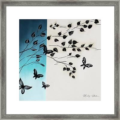 Butterfly Escape Framed Print by P.s. Art Studios