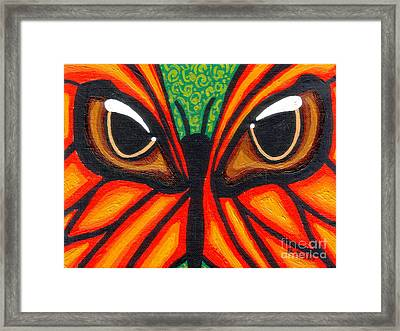 Butterfly Eyes Framed Print by Genevieve Esson