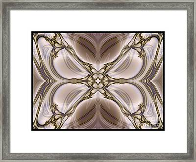 Butterfly Flower Morph  Framed Print by Elizabeth McTaggart