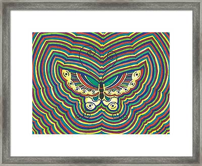 Framed Print featuring the painting Butterfly Flutter by Susie Weber