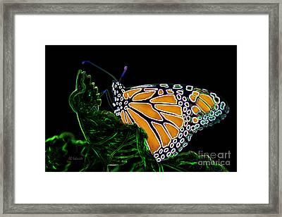 Framed Print featuring the digital art Butterfly Garden 12 - Monarch by E B Schmidt