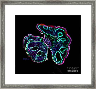 Framed Print featuring the digital art Butterfly Garden 18 - Carnation by E B Schmidt