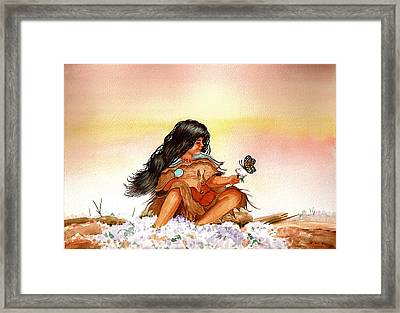 Butterfly Girl Framed Print by Richard Hinger