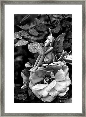 Butterfly Girl Framed Print by Tine Nordbred