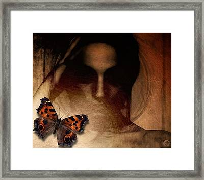 Butterfly Give Me Your Eyes Framed Print by Gun Legler