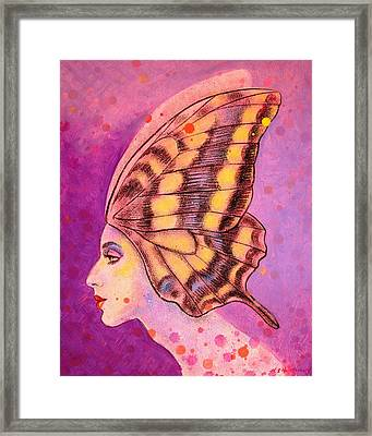 Butterfly Headdress Framed Print