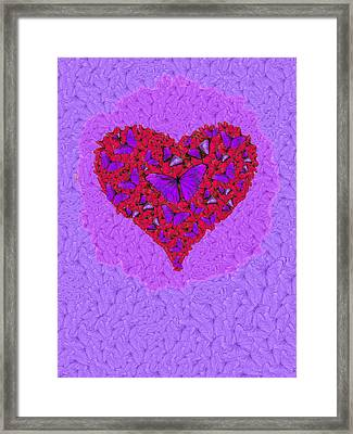 Butterfly Heart Framed Print by Alixandra Mullins