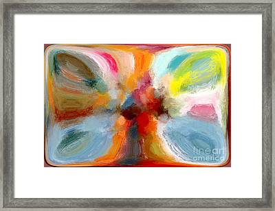 Butterfly In Abstract Framed Print