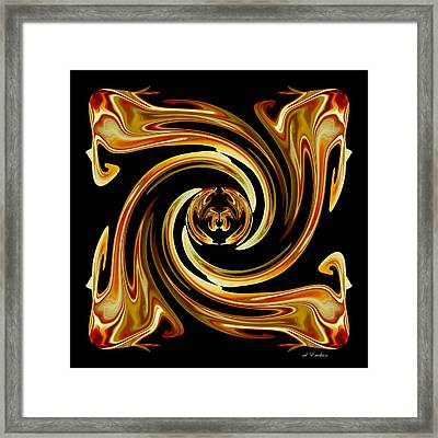 Framed Print featuring the digital art Butterfly In The Center by rd Erickson