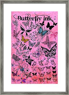 Butterfly Ink Framed Print