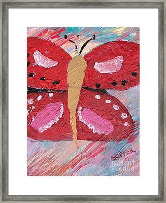 Butterfly Julie Framed Print