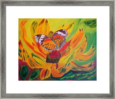 Butterfly Jungle Framed Print