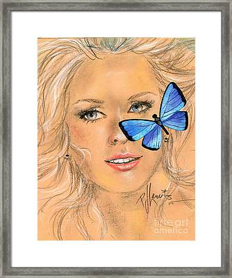 Butterfly Kisses Framed Print by P J Lewis