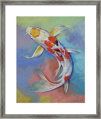 Butterfly Koi Fish Framed Print by Michael Creese