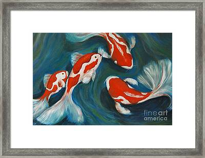 Butterfly Koi Framed Print by Nancy Bradley