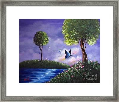 Butterfly Lake By Shawna Erback Framed Print by Shawna Erback