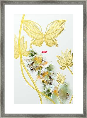 Butterfly Framed Print by Len YewHeng